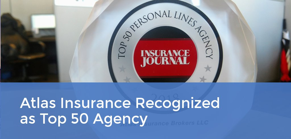 Atlas Insurance Brokers Named #23 on Insurance Journal's Top 50 Personal Lines Agencies