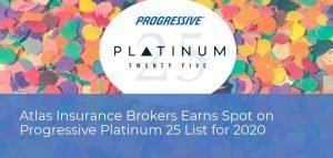 Atlas Insurance Brokers Earns Spot on Progressive Platinum 25 List for 2020
